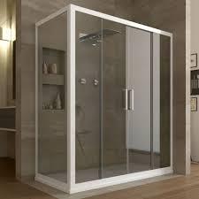 boxs doccia box doccia angolare 2 ante scorrevoli in cristallo trasparente 6mm