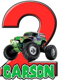 personalized monster truck jam grave digger birthday iron