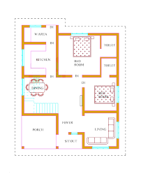 2 Bedroom House Plans Kerala Style 1200 Sq Feet Home Design 2017