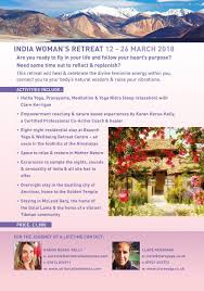 march 2018 womel co india s retreat 12th 26th march 2018 clare kerrigan