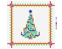 christmas tree cross stitch pattern for cards and ornaments free
