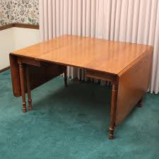 Maple Drop Leaf Table Vintage Tell City Chair Company Maple Drop Leaf Dining Table Ebth
