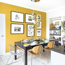 kitchen feature wall ideas smart modern kitchen diner with mustard yellow feature wall room