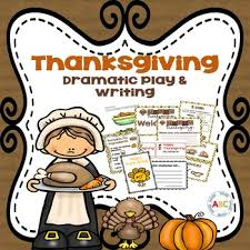 thanksgiving dramatic play and writing center by abc nook tpt
