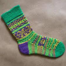 mardi gras socks ravelry mardi gras socks pattern by trish halliburton