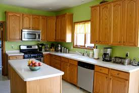 sage green kitchen with oak cabinets kitchen decoration