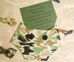 diaper baby shower invitation diaper shaped camo baby shower invitation