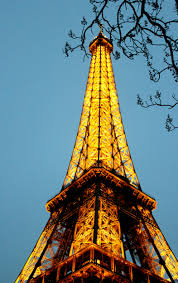 free images night view eiffel tower paris travel france