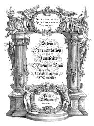 illustrated title with classical ornamentation book