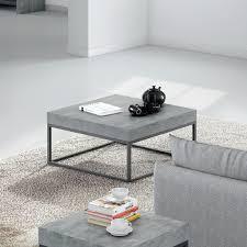 Concrete Coffee Table Temahome 30x30 Coffee Table Concrete Look Top Black Legs