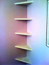 Corner Wall Bookcase Corner Wall Shelves For Kitchen In Grande Black Finish Zig Zag