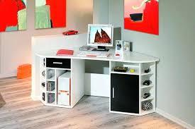 bureau d4angle bureau d angle noir laque bureau dangle contemporain blanc et noir