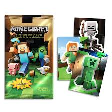 minecraft cards minecraft foil sticker pack toys