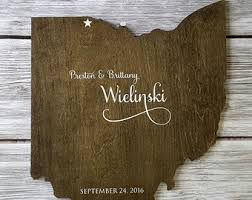 wood state state guest book etsy