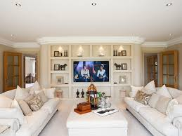 color schemes for open floor plans ceiling lighting waterfront coastal throw pillows sectional wood