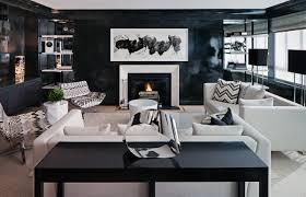 haus interior living room black lacquer glossy wall paint chevron