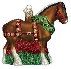 world ornaments horses kerstboom ornamenten