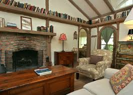 Cottage Family Room Fireplace Hooked On Houses - Cottage family room