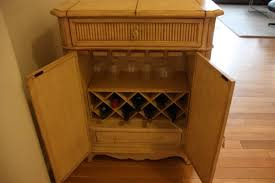 gently used buffet console wine cabinet w patina make best