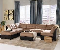 Leather And Suede Sectional Sofa Furniture Microsuede Sectional Unique Stylish Leather And Suede