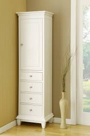 Bathroom Linen Shelves Gorgeous White Linen Cabinet Of Bathroom Best References Home