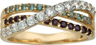 gold mothers rings images Triple birthstone crossover band gold ring with genuine stones jpg
