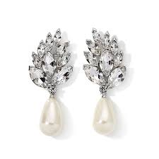 hepburn earrings hepburn collection peacock clear and simulated