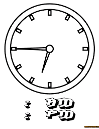 circle shaped wall clock coloring page free coloring pages online