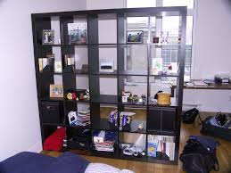 decorating large shelf for ikea room dividers in home office at