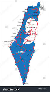 Isreal Map Israel Map Isolated Stock Vector 103489721 Shutterstock