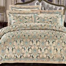 Upscale Bedding Sets Luxury Bedding Set Cotton Bedding Sets Bed Sheet Jacquard Bedding
