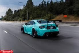 custom subaru brz interior sema built tiffany blue rocket bunny fr s rare cars for sale