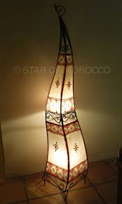 tall orange sahara sun moroccan henna lamp