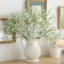 Flowers For Weddings Aliexpress Com Buy 12pcs Gypsophila Artificial Flowers Fake