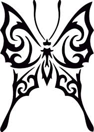 butterfly designs with tribal designs ideas clip