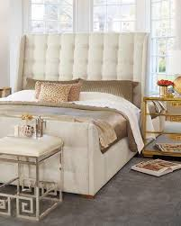 tufted sleigh king bed
