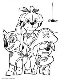 halloween coloring pages by number paw patrol coloring pages