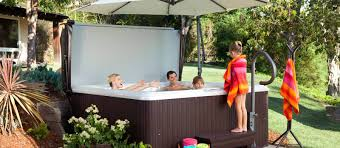 there s room for the whole family in the tempo hot tub which features fortable seating
