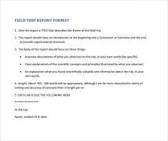 field report template sle trip report 13 documents in pdf
