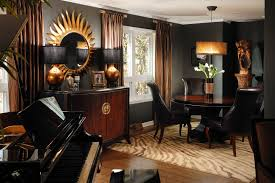 Black And Gold Room Decor Dramatic Black Gold And Brown Rooms