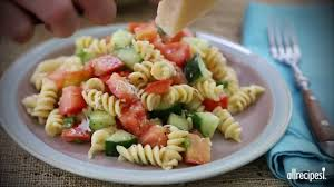 pasta salad recipes how to make pasta salad youtube