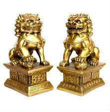 gold lion statues foo dog gold antique statues ebay