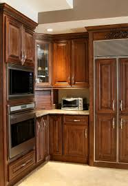 kitchen dark brown kitchen cabinets upper cabinet gray wall