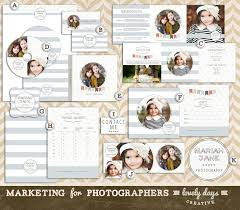 photography marketing set template kit pre made logo business