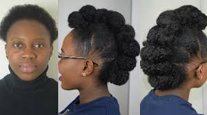 how to faux hawk updo tutorial on short natural hair beginner