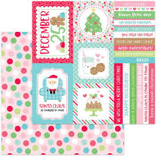 doodlebug milk and cookies 12x12 paper christmas party 842715057968