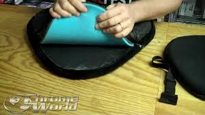 comfort max sheep skin and neoprene gel seat pads pad chrome world