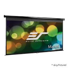 amazon com elite screens manual 150 inch 16 9 pull down