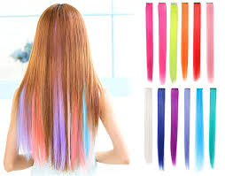 Color Hair Extension by Amazon Com Onedor 23 Inch Straight Colored Party Highlight Clip