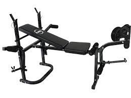 foxhunter new heavy duty steel adjustable foldable home gym